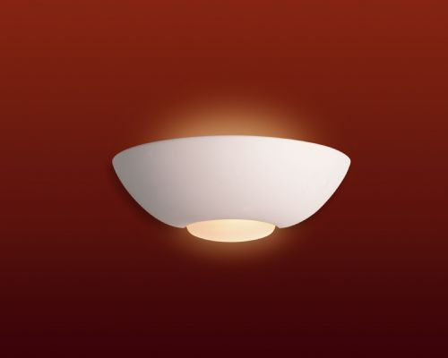 Firstlight C315UN Unglazed with Acid White Glass Ceramic Wall Light - 100w